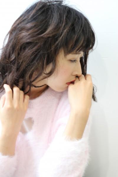 【BAMBINI】シースルーバング×リラックスカール