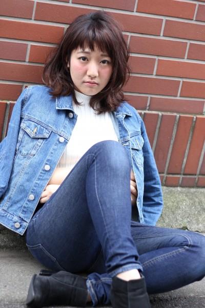 【BAMBINI】オン眉×ワンカールミディ