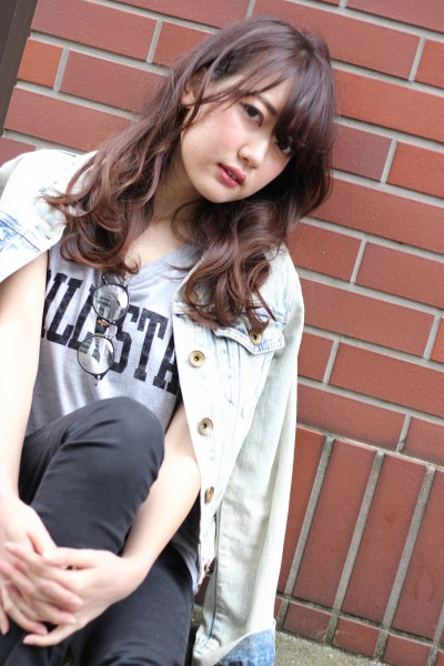 【BAMBINI】シースルーバング×ニュアンスカール