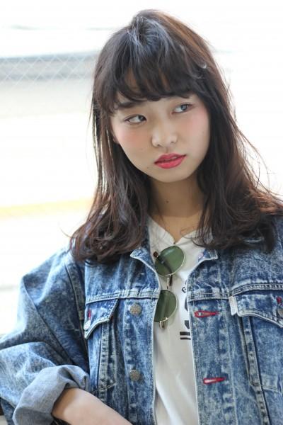 【BAMBINI】黒髪×シースルーバング