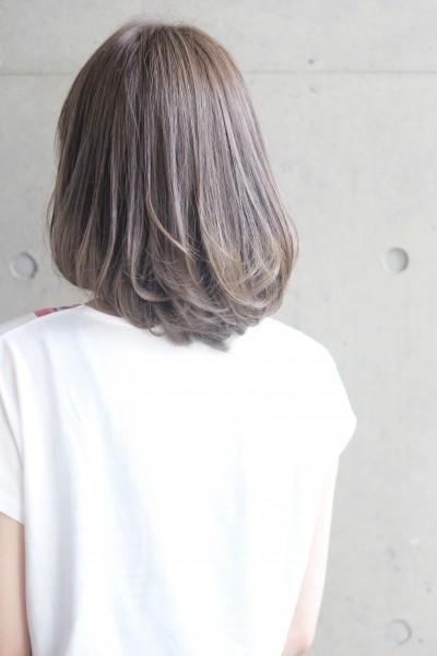 【外国人風カラー】ハイライト+オリーブベージュ