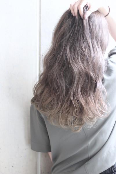 【外国人風カラー】ハイライト+シフォングレー