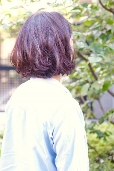 【外国人風カラー】ハイライト+ラズベリーピンク